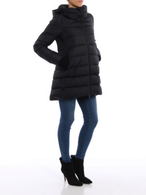 Herno: padded coats online - Short puffer coat with ribbed cuffs