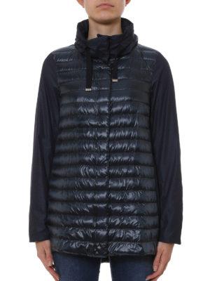 Herno: padded coats online - Taffeta panelled padded coat