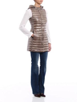 Herno: padded coats online - Ultralight long padded vest
