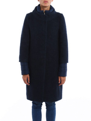 Herno: padded coats online - Wool blend bouclé padded coat