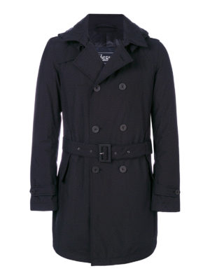 Herno: padded coats - Padded double-breasted trench coat