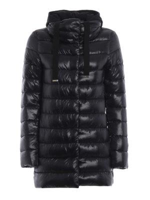 HERNO: cappotti imbottiti - Piumino con pettorina e cappuccio in jersey