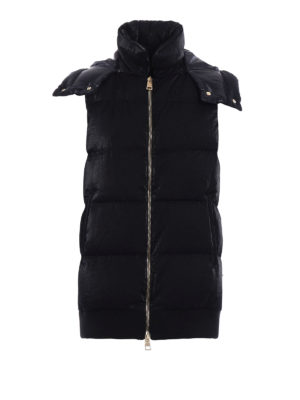 Herno: padded coats - Quilted and padded long vest