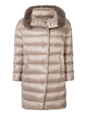 Herno: padded coats - Removable fur collar padded coat
