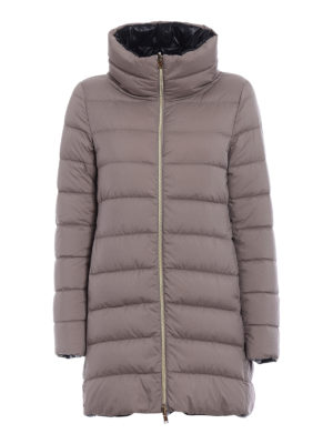 Herno: padded coats - Reversible short padded coat