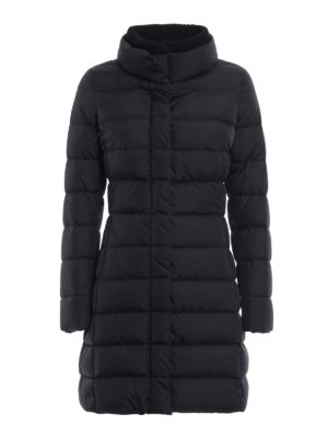 Herno: padded coats - Rib knitted double collar down coat