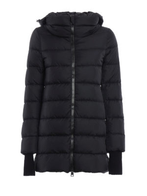 Herno: padded coats - Short puffer coat with ribbed cuffs