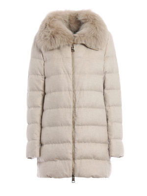 Herno: padded coats - Silk and cashmere padded coat