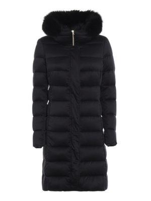 HERNO: cappotti imbottiti - Piumino setoso con pelliccia removibile