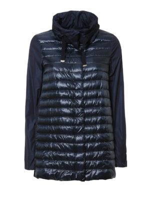 Herno: padded coats - Taffeta panelled padded coat