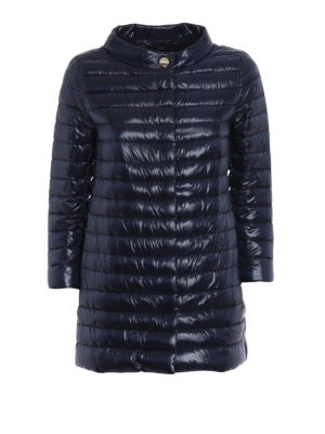 Herno: padded coats - Ultralight blue puffer coat