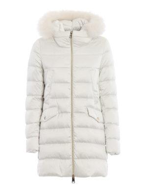 HERNO: cappotti imbottiti - Piumino in tessuto tecnico naturale con volpe