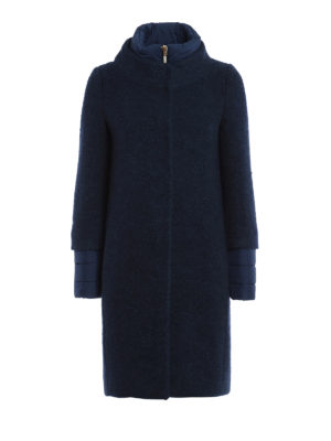 Herno: padded coats - Wool blend bouclé padded coat