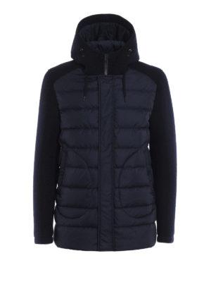 Herno: padded coats - Wool scuba and nylon padded coat