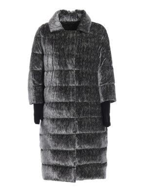 HERNO: cappotti imbottiti - Piumino in velluto di misto seta zebrato