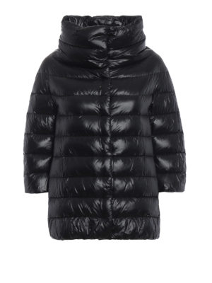 HERNO: giacche imbottite - Piumino Aminta in nylon nero