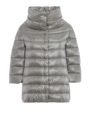 HERNO: giacche imbottite - Piumino Aminta in nylon grigio chiaro