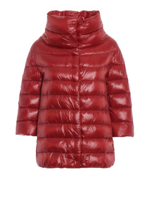 HERNO: giacche imbottite - Piumino Aminta in nylon rosso