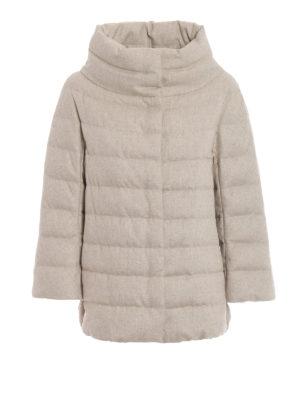 HERNO: giacche imbottite - Piumino cashmere e seta antigoccia