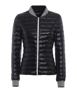 Herno: padded jackets - Biker-inspired black padded jacket