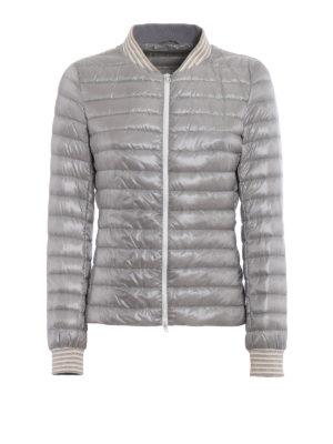 Herno: padded jackets - Biker-inspired grey padded jacket