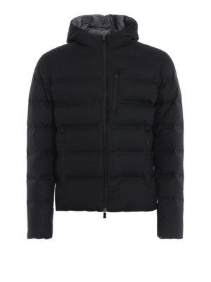 HERNO: giacche imbottite - Piumino Laminar in nylon nero con cappuccio