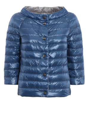 Herno: padded jackets - Boat neck reversible puffer jacket