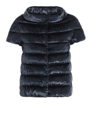 HERNO: giacche imbottite - Piumino smanicato in velluto cangiante