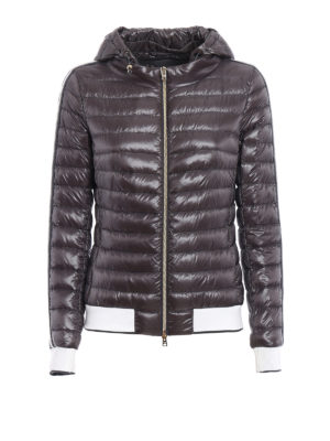 Herno: padded jackets - Contrasting detailed puffer jacket