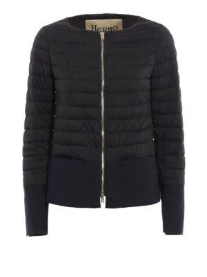 Herno: padded jackets - Cotton extended padded nylon jacket