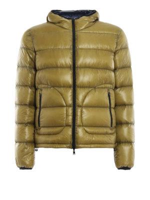 HERNO: giacche imbottite - Piumino double color senape e blu scuro