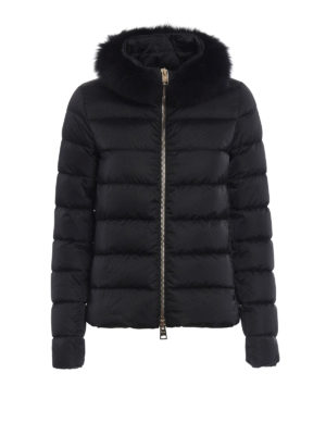 Herno: padded jackets - Detachable fur collar padded jacket