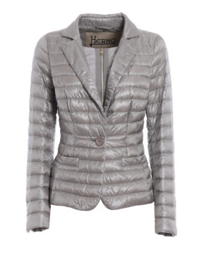 Herno: padded jackets - Double front grey padded jacket