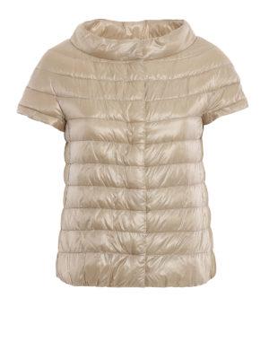 HERNO: giacche imbottite - Piumino Emilia beige con maniche corte