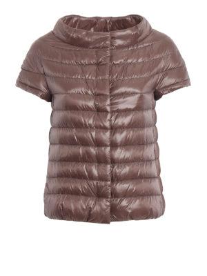 HERNO: giacche imbottite - Piumino Emilia marrone rosato a maniche corte