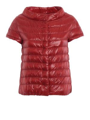 HERNO: giacche imbottite - Piumino Emilia rosso con maniche corte