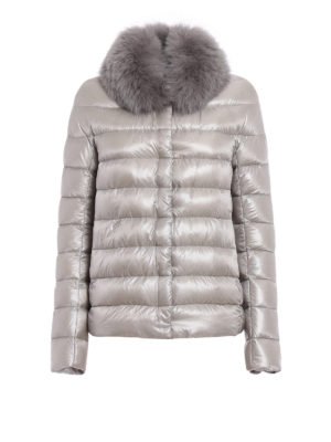 Herno: padded jackets - Fur trimmed padded jacket