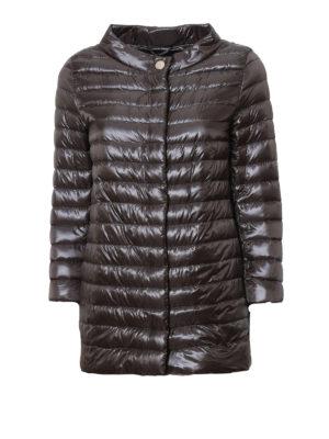 Herno: padded jackets - Glossy nylon long padded jacket