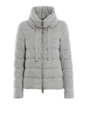 HERNO: giacche imbottite - Piumino corto Glow in jersey di misto lana