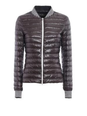 Herno: padded jackets - Grey bomber puffer light jacket