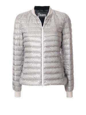 HERNO: giacche imbottite - Bomber leggero imbottito grigio
