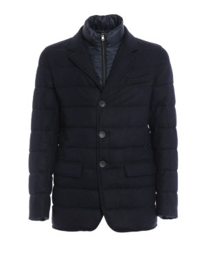 Herno: padded jackets - Herringbone double front jacket