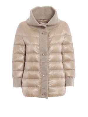 HERNO: giacche imbottite - Piumino over in nylon con bordi in maglia