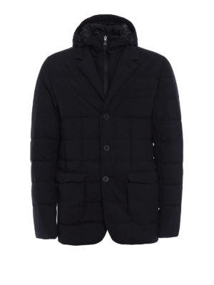 Herno: padded jackets - Laminar black padded blazer
