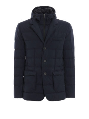 HERNO: giacche imbottite - Piumino Laminar in Gore®Windstopper® blu
