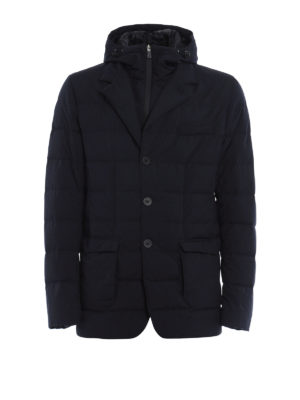 Herno: padded jackets - Laminar padded double front blazer