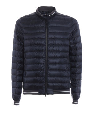 Herno: padded jackets - Lightweight blue down bomber jacket
