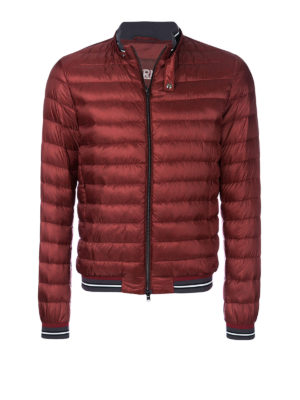 HERNO: giacche imbottite - Bomber ultraleggero imbottito rosso