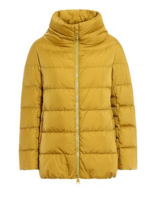 Herno: padded jackets - Lightweight yellow puffer jacket