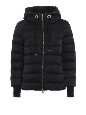 HERNO: giacche imbottite - Piumino in raso tecnico con bande lurex